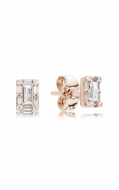 Luminous Ice Stud Earrings PANDORA Rose™ & Clear CZ 287567CZ product image