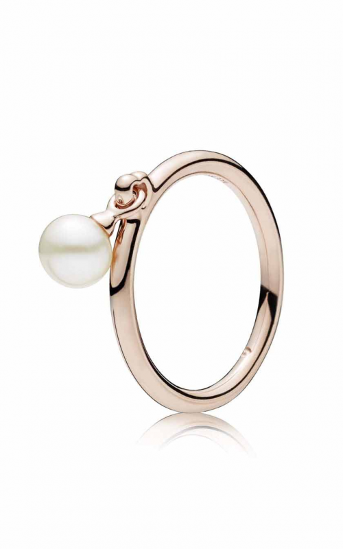 Contemporary Pearl Ring PANDORA Rose™ & Freshwater Cultured Pearl 187525P-54 product image