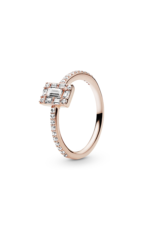 Luminous Ice Ring PANDORA Rose™ & Clear CZ 187541CZ-56 product image