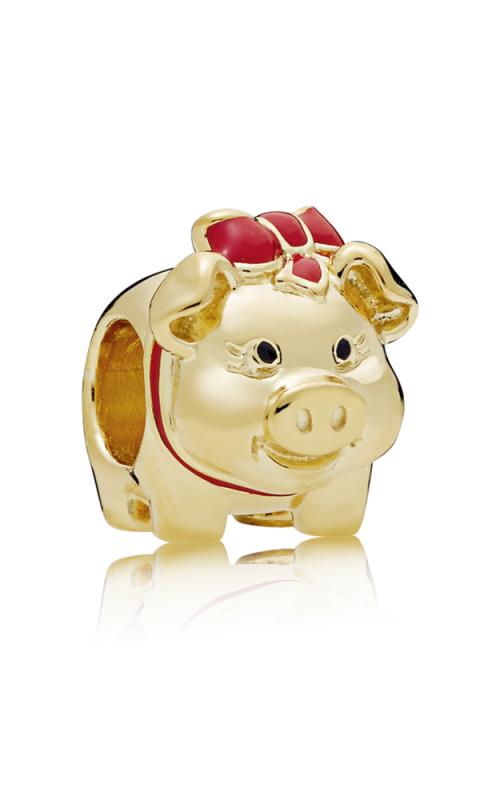 Piggy Bank Charm PANDORA Shine™ Black & Red Enamel 767815ENMX product image