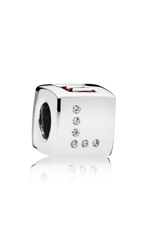 Pandora Love Dice Charm Red & Clear CZ 797811CZR product image