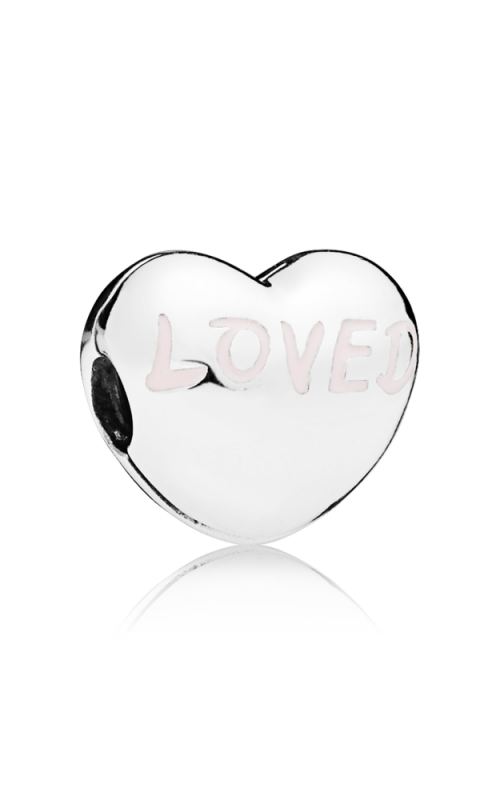 Pandora Loved Heart Charm Powder Pink Enamel 797807EN124 product image