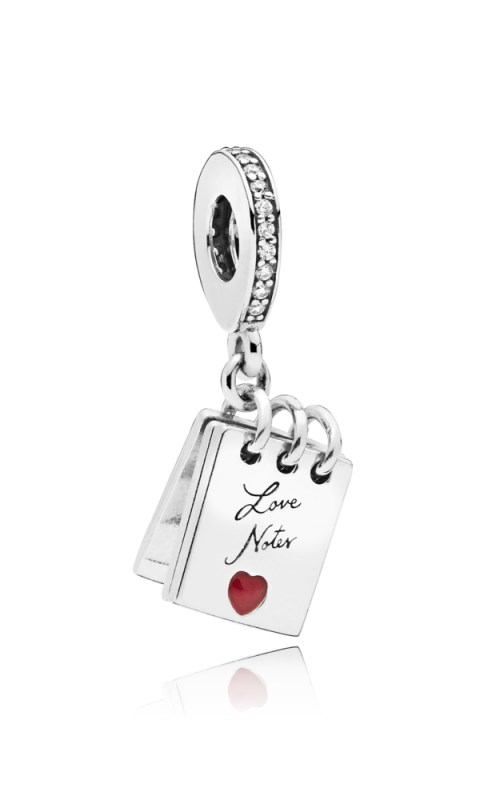 PANDORA Love Notes Charm Clear CZ & Crimson Red Enamel 797835CZ product image