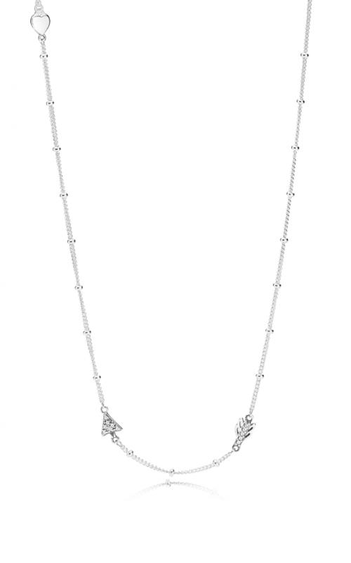 PANDORA Sparkling Arrow Necklace Clear CZ 397795CZ-60 product image