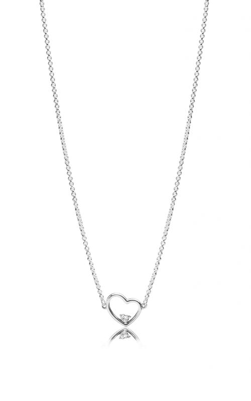 PANDORA Asymmetric Heart of Love Necklace Clear CZ 397797CZ-45 product image