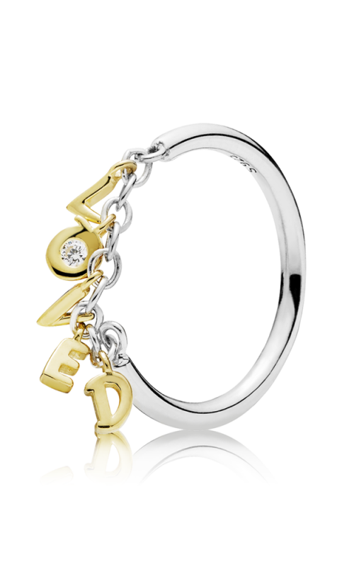 PANDORA Shine™ Loved Script Ring Clear CZ 167799CZ-48 product image