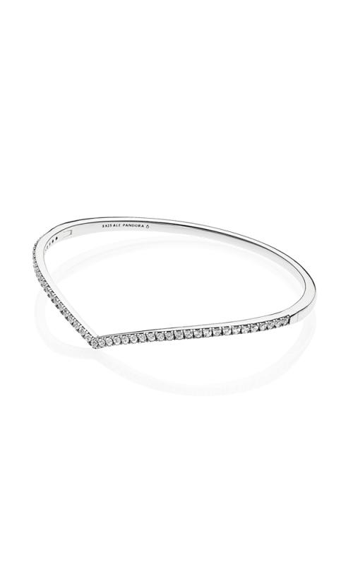 PANDORA Wish Shimmering Wish Bangle Bracelet Clear CZ 597837CZ-1 product image