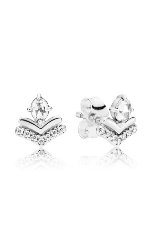 PANDORA Wish Classic Wishes Earrings Clear CZ 297787CZ product image