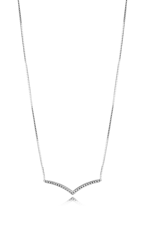 PANDORA Wish Shimmering Wish Necklace Clear CZ 397802CZ-45 product image
