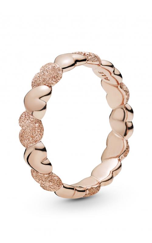 PANDORA Rose™ Matte Brilliance Hearts Ring 187950-56 product image
