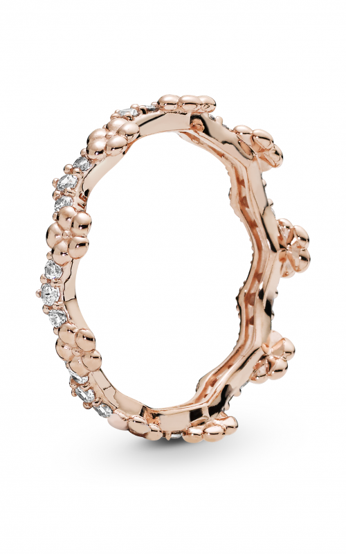 PANDORA Rose™ Flower Crown & Clear CZ Ring 187924CZ-52 product image