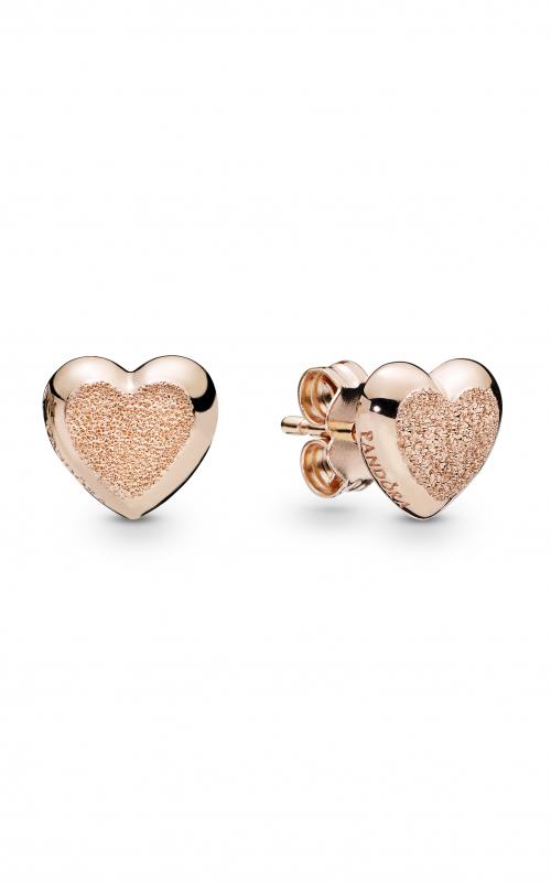 1d754eec4 PANDORA Rose™ Matte Brilliance Hearts Earrings 287928 product image