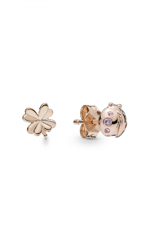 Pandora Rose™ Four-Leaf Clover & Ladybird & Pink Crystals Earrings 287960NPO product image
