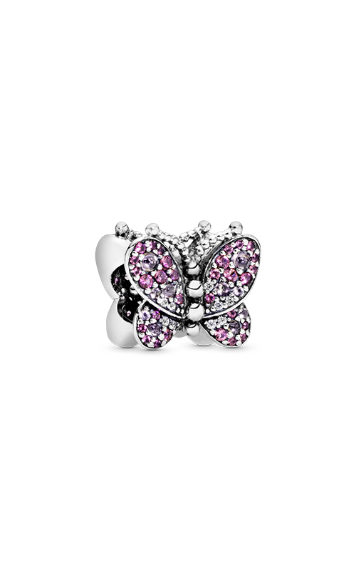 Pandora Dazzling Pink Butterfly Charm Pink Crystals & Clear CZ 797882NCCMX product image