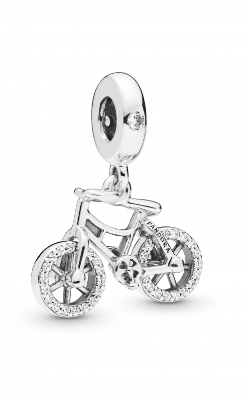 Pandora Brilliant Bicycle Dangle Charm Clear CZ 797858CZ product image
