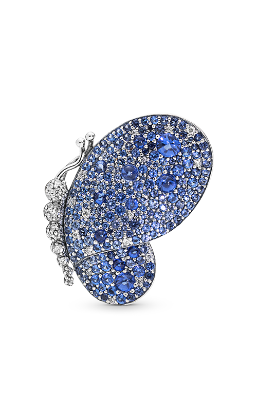 PANDORA Dazzling Blue Butterfly Pendant Royal Blue Crystals & Clear CZ 697996NCB product image