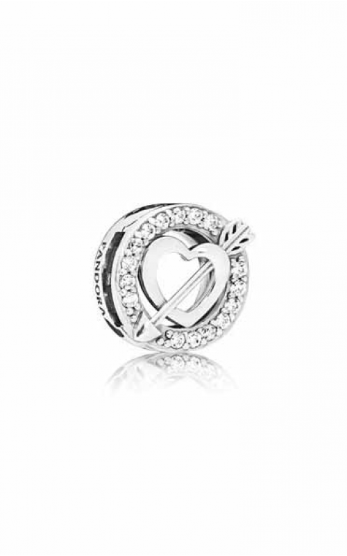 Pandora Reflexions™ Asymmetric Heart and Arrow Clip Charm 797793CZ product image