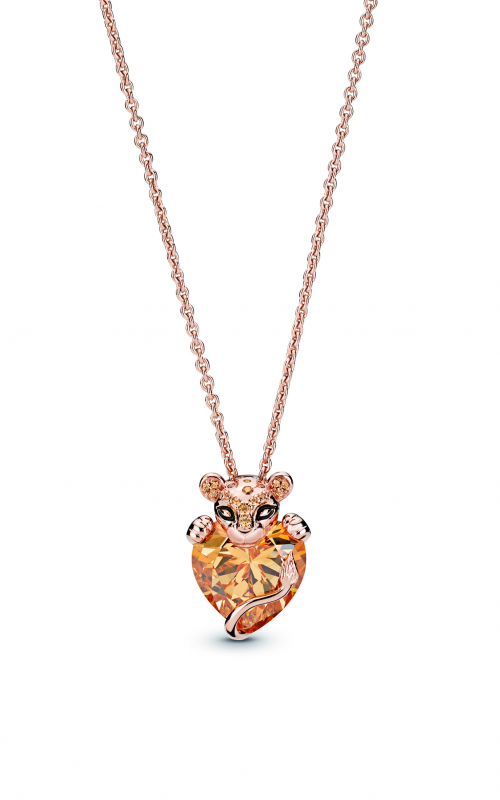 Sparkling Lion Princess Heart Necklace PANDORA Rose™ 388068CZM-60 product image