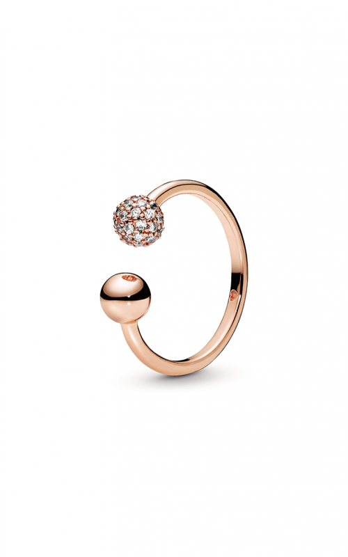 Pandora Rose™ Polished & Pavé Bead Open Ring 188316CZ-48 product image