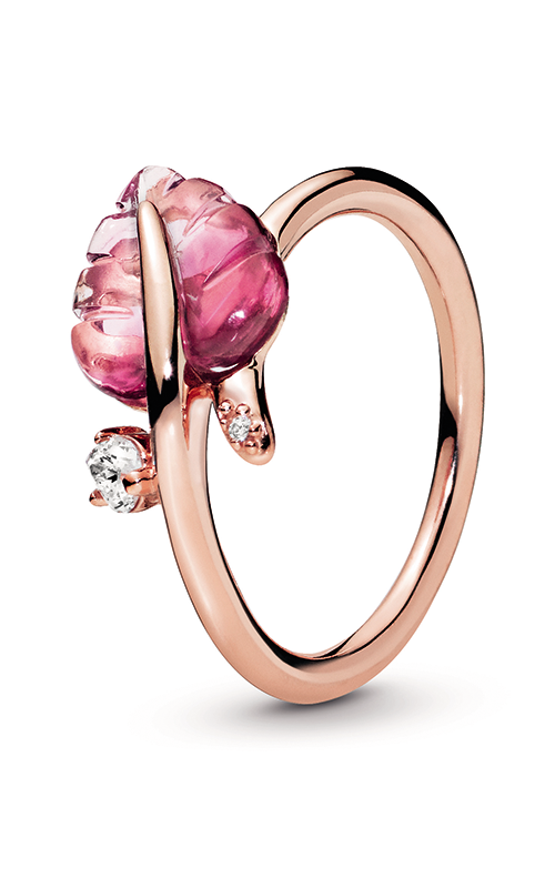 Pandora Rose™ Pink Murano Glass Leaf Ring 188319PMU-48 product image