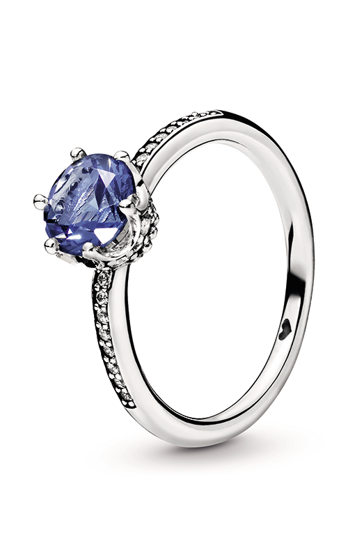Pandora Blue Sparkling Crown Ring 198289NSWB-48 product image