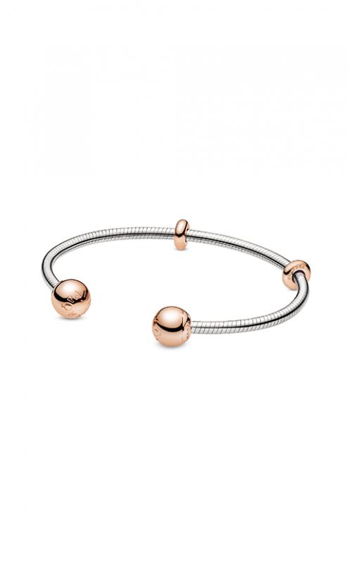 Pandora Rose™ Moments Snake Chain Style Open Bangle588291 product image