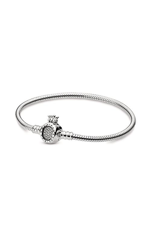 Pandora Moments Crown O & Snake Chain Bracelet 598286CZ-16 product image