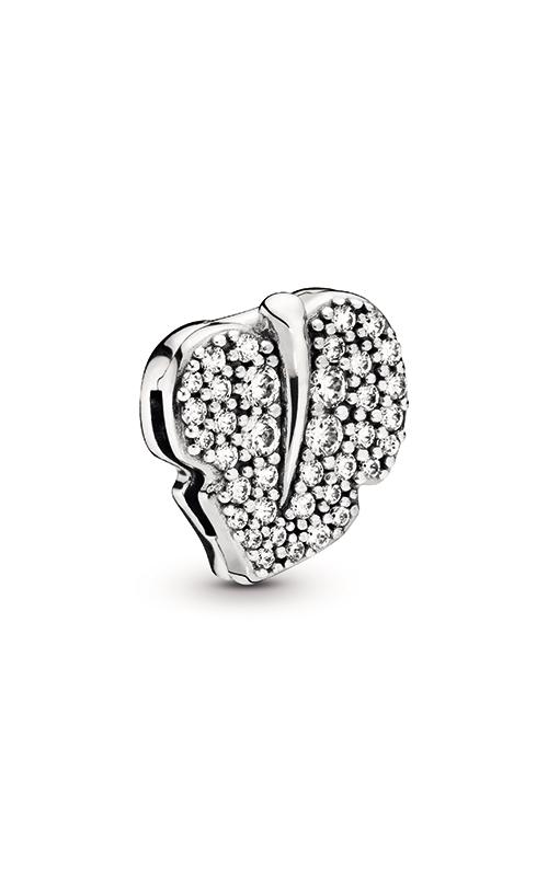Pandora Reflexions™ Sparkling Leaf Clip Charm 798293CZ product image