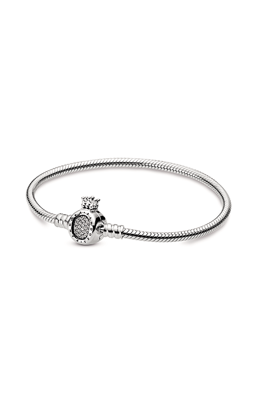 Pandora Moments Crown O & Snake Chain Bracelet 598286CZ-17 product image