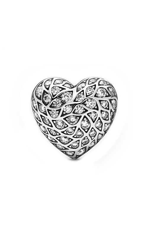 Pandora Sparkling Pattern Heart Single Stud Earring 298568C01 product image
