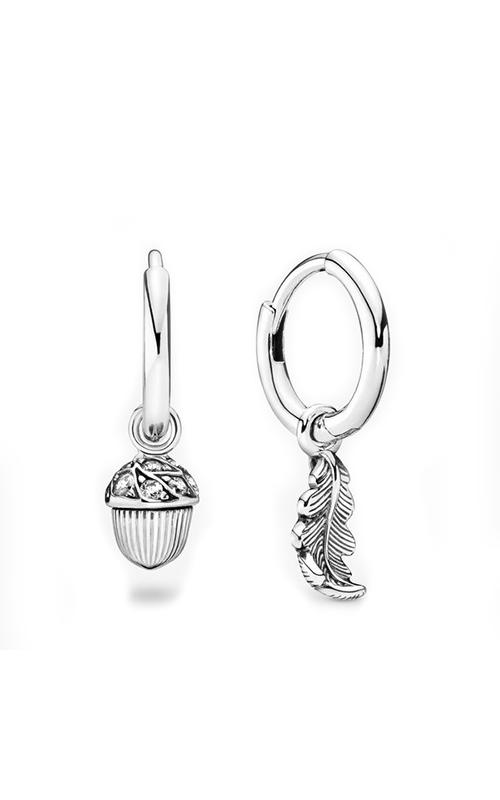 Pandora Acorn & Leaf Hoop Earrings 298603C01 product image