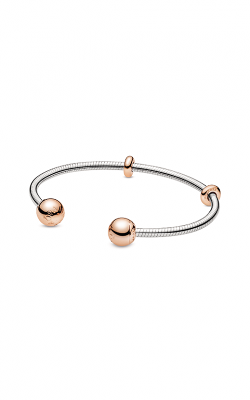 Pandora Rose™ Moments Snake Chain Style Open Bangle 588291-2 product image