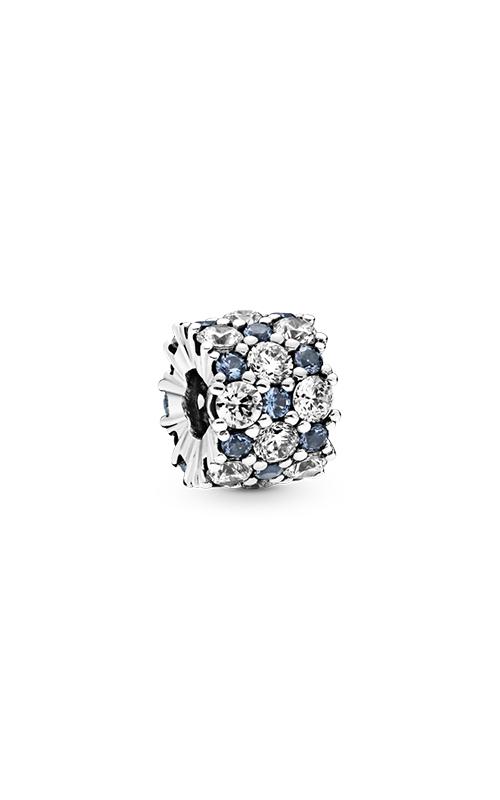 Pandora Blue & Clear Sparkle, Blue Crystal & Clear CZ Charm 798487C02 product image