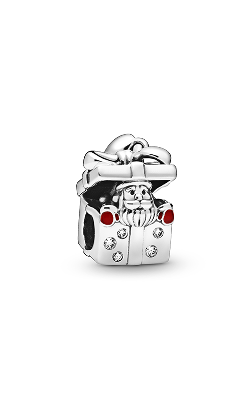 Pandora Santa in a Giftbox, Red Enamel & Clear CZ Charm 798470C01 product image