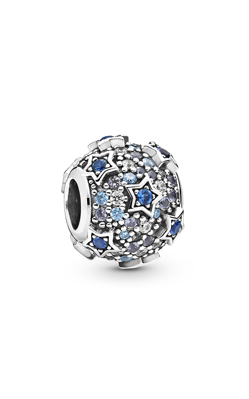 Pandora Elevated Stars Pavé, Blue & Clear CZ Charm 798467C01 (Retired) product image