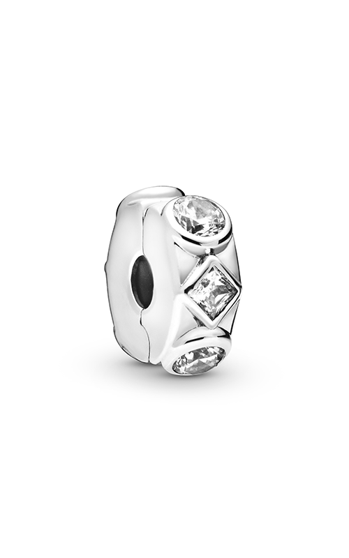 Pandora Geometric Shapes, Clear CZ Clip Charm 798463C01 product image