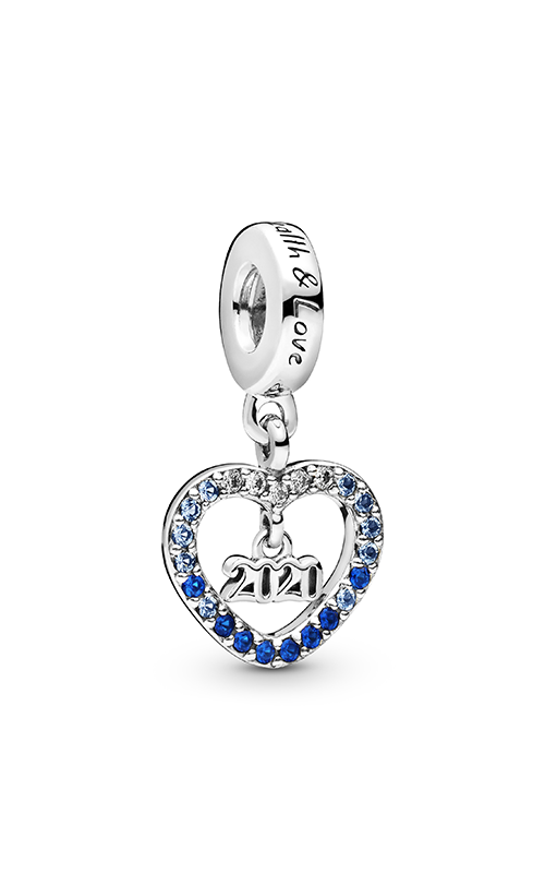 Pandora 2020 New Year, Blue Crystal & Clear CZ Dangle Charm 798436C01 product image