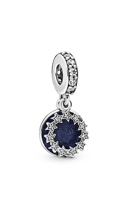 Pandora Inspirational Stars, Blue Enamel & Clear CZ Dangle Charm 798433C01 product image