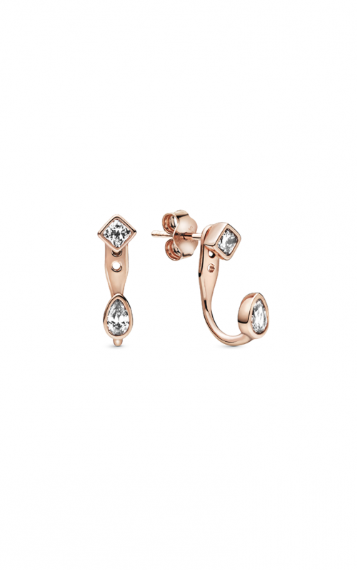 Pandora Geometric Shapes, Clear CZ Earrings 288509C01 product image