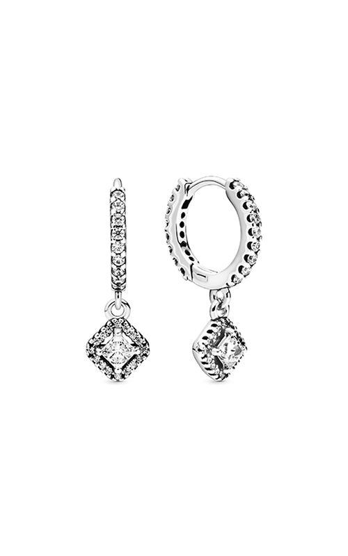 Pandora Square Sparkle, Clear CZ Earrings 298503C01 product image