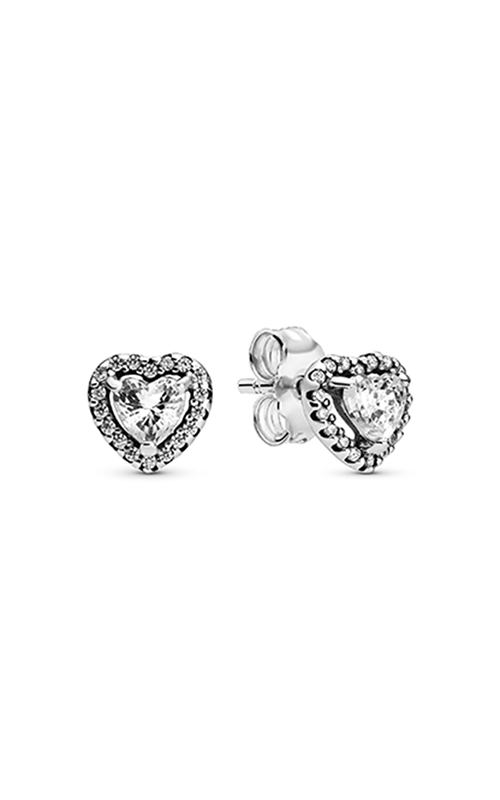 Pandora Elevated Heart, Clear CZ Earrings 298427C01 product image