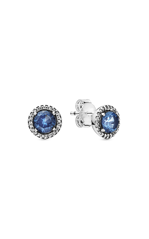 Pandora Round Sparkle, Blue Crystal & Clear CZ Earrings 296272C01 product image