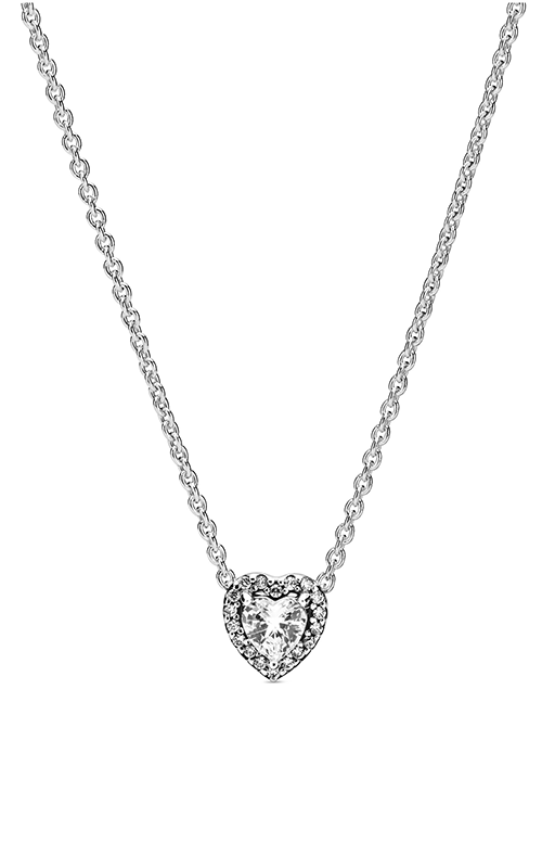 Pandora Elevated Heart, Clear CZ Pendant 398425C01-45 product image