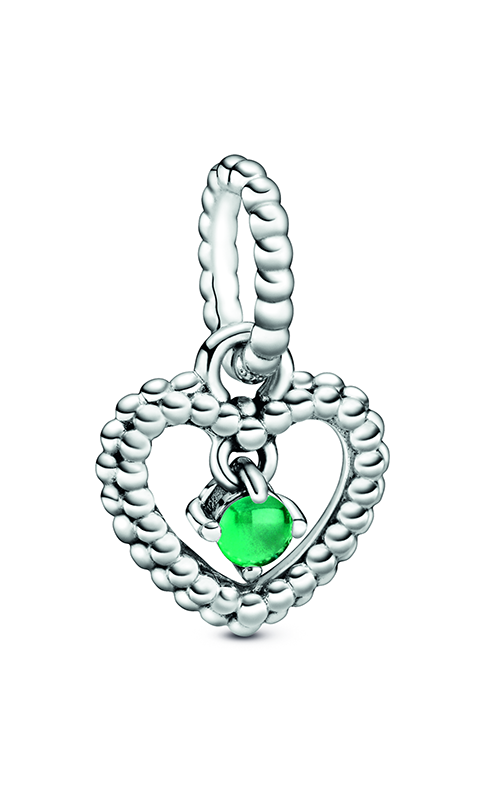 Pandora Rainforest Green Beaded Heart Dangle Charm 798854C05 product image