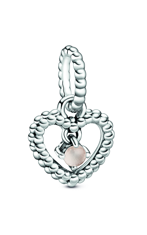 Pandora Misty Rose Beaded Heart Dangle Charm 798854C06 product image