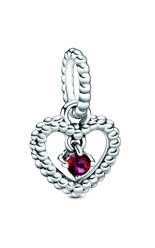 Pandora Blazing Red Beaded Heart Dangle Charm 798854C02 product image