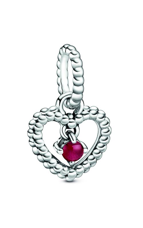 Pandora Dark Red Beaded Heart Dangle Charm 798854C08 product image