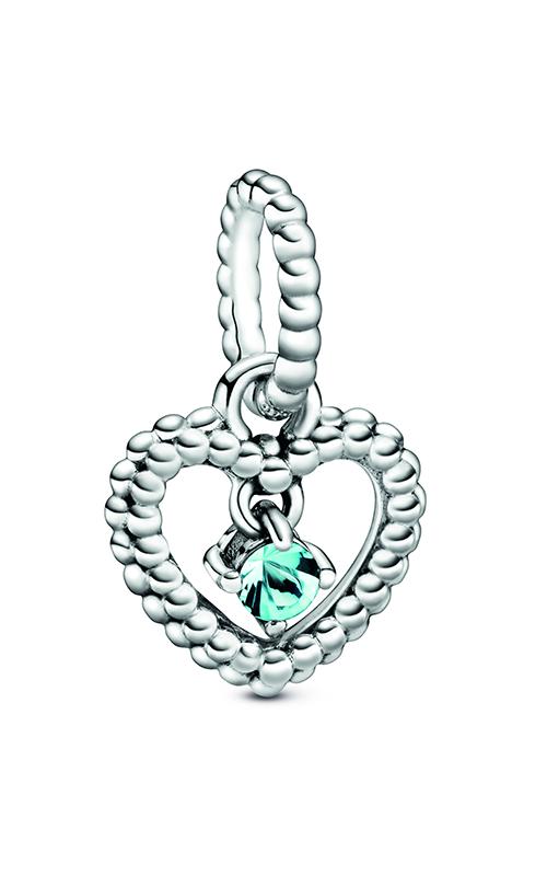 Pandora Aqua Blue Beaded Heart Dangle Charm 798854C01 product image