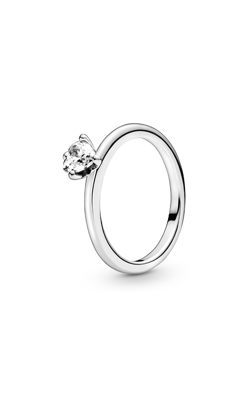 Pandora Clear Heart Solitaire Ring 198691C01-48 product image