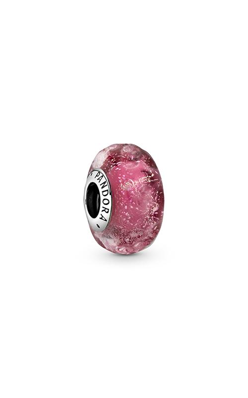 Pandora Wavy Fancy Pink Murano Glass Charm 798872C00 product image